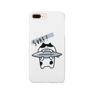 mashibuchiのねこサーフィンかじり Smartphone cases