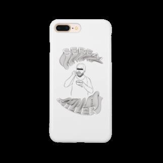 art_posca_drawingのシリアルキラー Smartphone cases