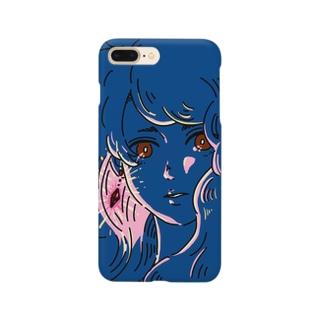 赤い瞳と耳飾り Smartphone cases