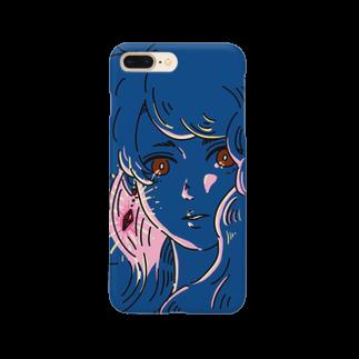 マキノノマの赤い瞳と耳飾り Smartphone cases
