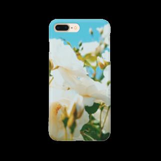 maki_fujiyamaの白という名前 Smartphone cases