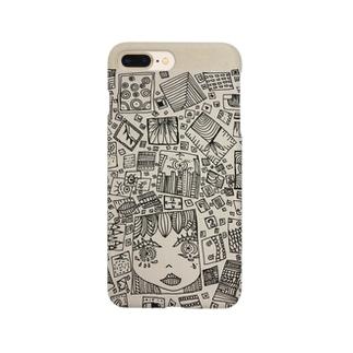 四角い女の子 Smartphone cases