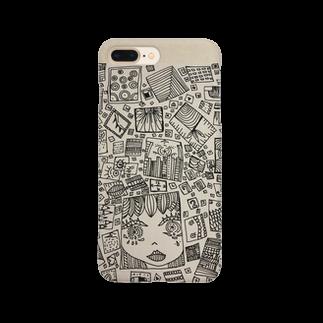 海月。の四角い女の子 Smartphone cases