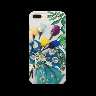 お台場ローズベイデザインのボタニカルリボンアーティ Smartphone cases