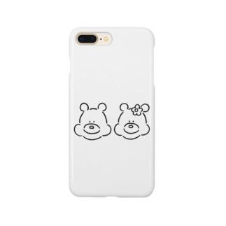 くま(ふたりいっしょ) Smartphone cases