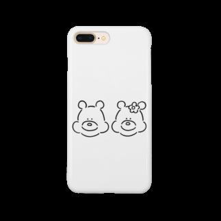 ミックスジュース。のくま(ふたりいっしょ) Smartphone cases