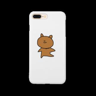 ライのおふざけくまちゃん Smartphone cases