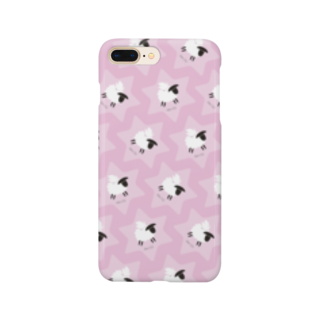 一羽のすずめのDove on the Sheep [pink] Smartphone cases