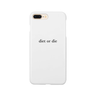 foodiegirlfriendsのdiet or die White Smartphone cases