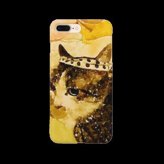 ponpokotoraのハチマキネコ Smartphone cases