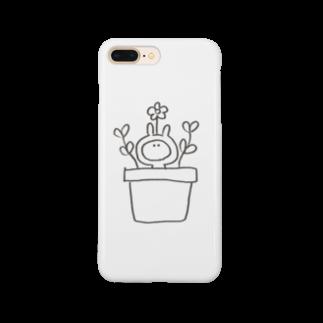なつぽむ。のお花うさたん Smartphone cases