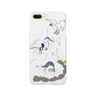 Shimako'sの水辺のサギーズ Smartphone cases