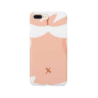 りおたのおっぱいTシャツ(white) Smartphone cases