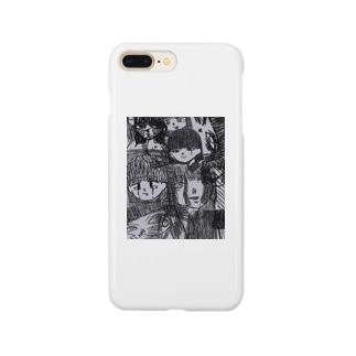 落書きちゃん女の子 Smartphone cases