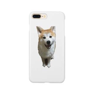 秋田犬ももくん ニコニコver. Smartphone cases