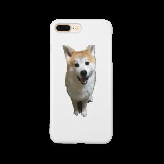 秋田犬ももと柴犬むぎの秋田犬ももくん ニコニコver. Smartphone cases