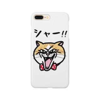 キレねこ『シャー顔』 Smartphone cases