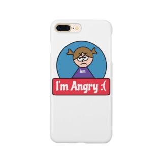 アングリーガールのあいぽんケース Smartphone cases