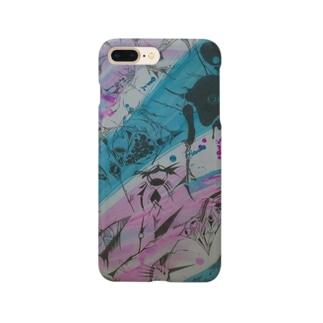 『スプラッシュブラック』 Smartphone cases