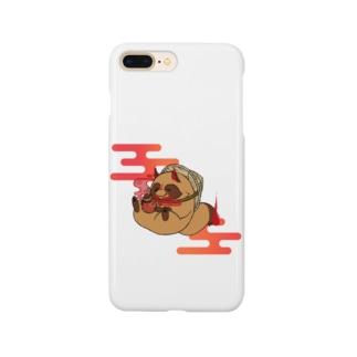 霞タヌキさん Smartphone cases