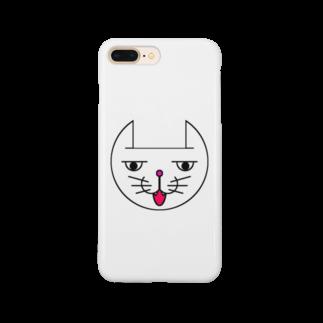 ヒロさんのグッズのネコだお(口開け)(カラー) Smartphone cases