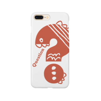 〈サチコヤマサキ〉ショップのクエスチョンの魚(オレンジ) Smartphone cases