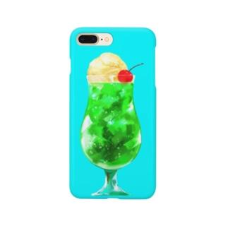 メロンクリームソーダフロート Smartphone cases