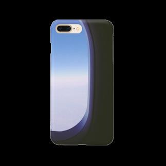 preppの飛行機の窓 Smartphone cases