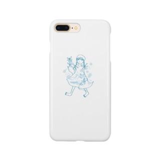 三つ編みガール Smartphone cases