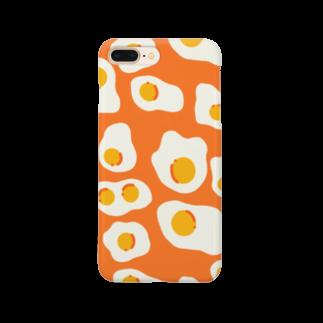 もちのすけ🍳の目玉焼き スマホケース[オレンジ] Smartphone cases