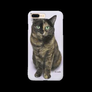 kinako-japanのサビ猫のキューちゃん Smartphone cases