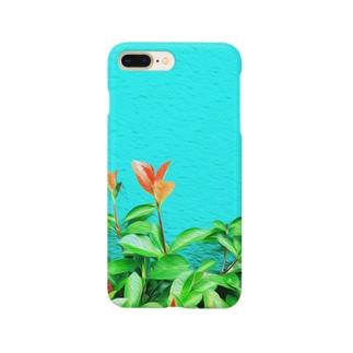 TokyoSienneの夏の碧と花 Smartphone cases