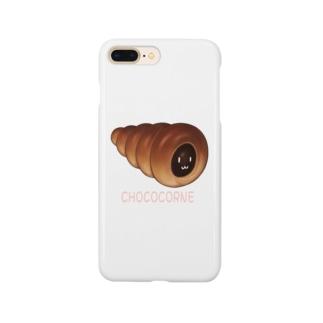 チョココロネ顔つき Smartphone cases