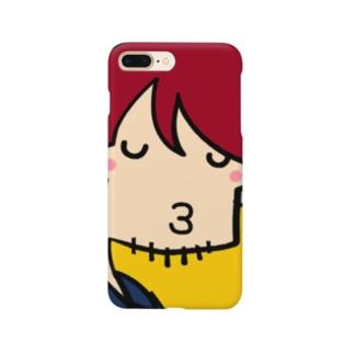 夜22時のドラマにありがちなキス顔 Smartphone cases