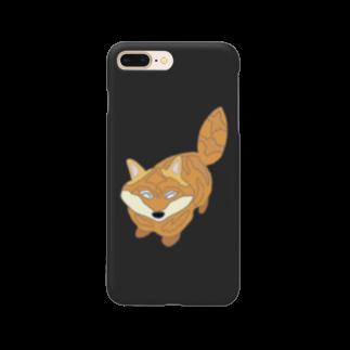 ぎょんすの寺子屋のきつね(シンプル) Smartphone cases
