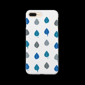 むら@タグのいっぱいしたたるシズク「青」 Smartphone cases