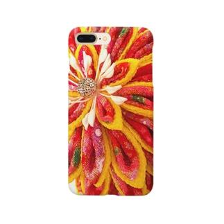 赤花咲いた Smartphone cases