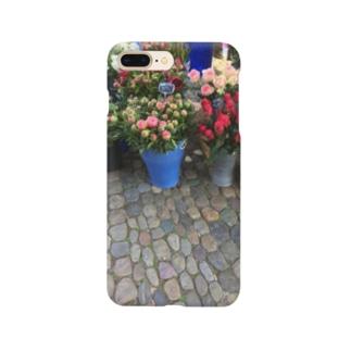 朝市の道ばたとお花 Smartphone cases