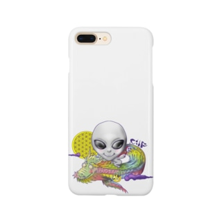 宇宙人×虹龍 Smartphone cases