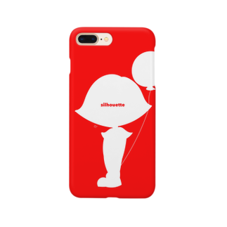 silhouetteの風船と女の子☺︎ Smartphone cases