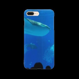 kknkakのジンベイザメの写真 Smartphone cases