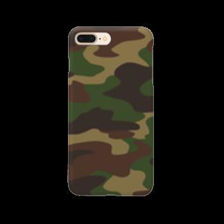 みや猫の迷彩柄(グリーン) Smartphone cases