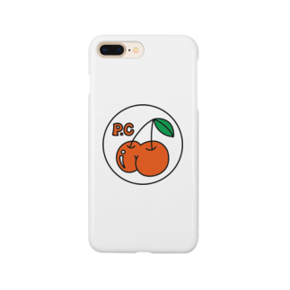 PEACHY CHERRYのPEACHY CHERRY basic phone case Smartphone cases