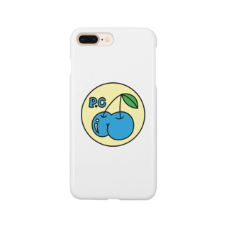 PEACHY CHERRYのPEACHY CHERRY blue/yellow phone case Smartphone cases