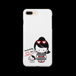 ないしょもちのロカビリーガール Smartphone cases