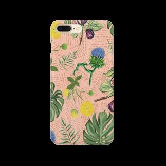 Tania NobukovskiのBOTANICAL PINK Smartphone cases