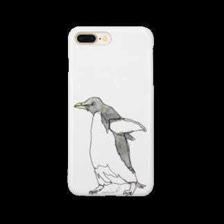 empitsukunのひとふで動物-アデリーペンギン Smartphone cases
