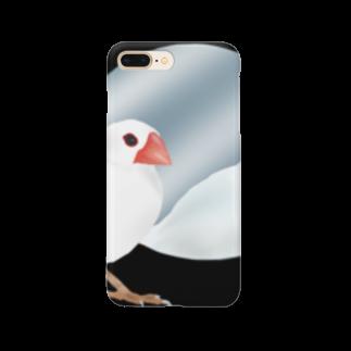 Ariroaの白文鳥くん Smartphone cases