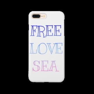 ますみのFREE LOVE SEA Smartphone cases