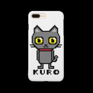 るなもなのドット黒猫 ロゴ入り Smartphone cases
